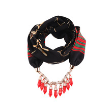 satin simulation silk pendant scarf tassel necklace decoration neck national wind womens clothing accessories trendy