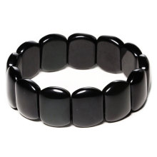 100% Real Bianshi Black Bian  jade Natural Stone Bracelet Carve For Men&Women