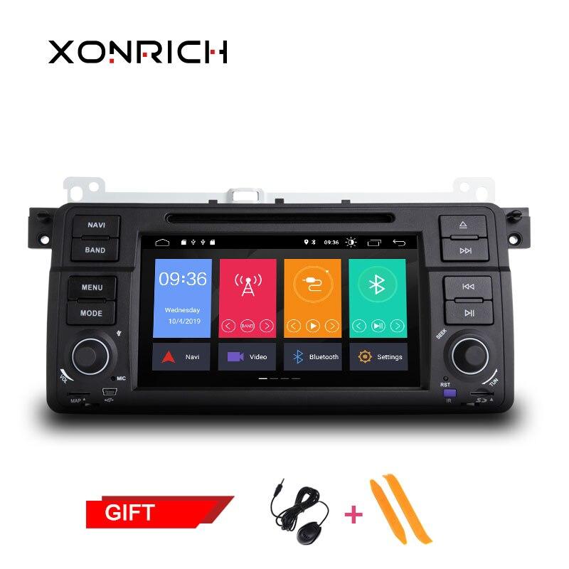 1 Din Android 9.0 Quad Core DVD Player Do Carro Para BMW E46 M3 318/320/325/330 /335 Rover 75 1998-2006 Navegação GPS BT Wifi