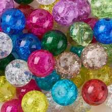 PANDAHALL 133pc Crackle Contas de Vidro Cor Misturada Rodada Para Acessórios Da Jóia DIY Finding Fazendo Fornece Por Atacado, 4/6/8/10mm