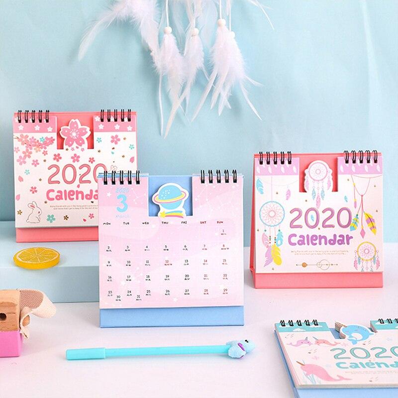 New Year 2020 Calendar Lovely Cartoon Animal Minions Totoro Panda Kitty Desktop Calendar Daily Schedule Yearly Agenda Organizer