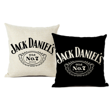 Black White Linen Cushion Cover Luxury Decoration Pillow Case High Quality Printed Words Hotel Family Sofa Cushion Cover