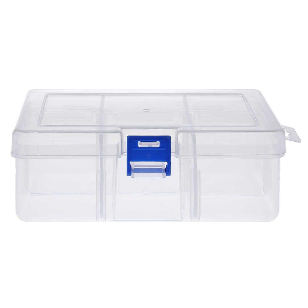 8 المقصورات الصيد صندوق متعدد الأغراض خطاف سنارة صيد السمك يدور خطاف معالجة مربع الاكسسوارات حقيبة للتخزين مع Adjsutable فواصل