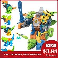 2021 diy dinossauro desmontagem conjunto tijolos brinquedos crianças cedo educacional criativo parafuso blocos de brinquedo com montar brinquedos para meninos