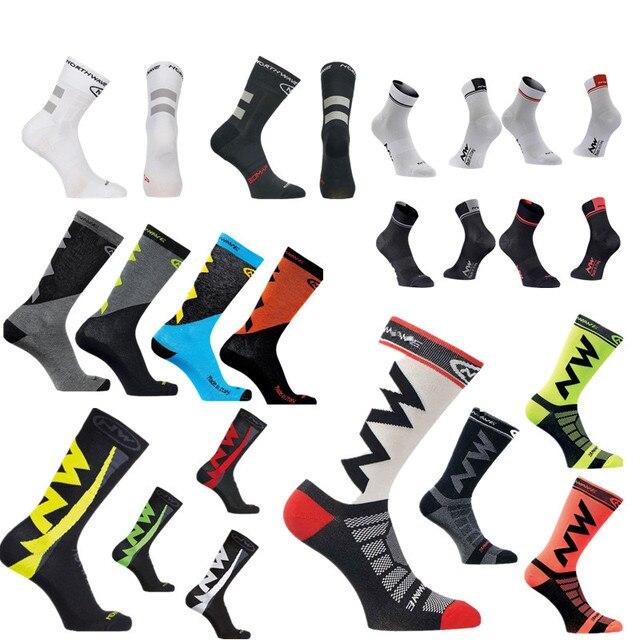 Nw 5 estilo pro equipe ciclismo meias men verão inverno calcetines ciclismo compressão mountain racing bicicleta meias 1