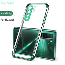 Luxury Transparent Phone Case for Huawei P30 40 Mate 20 Honor 30Pro Huawei Nova 5 6 Nova 7 SE Transparent Silicone Soft Case