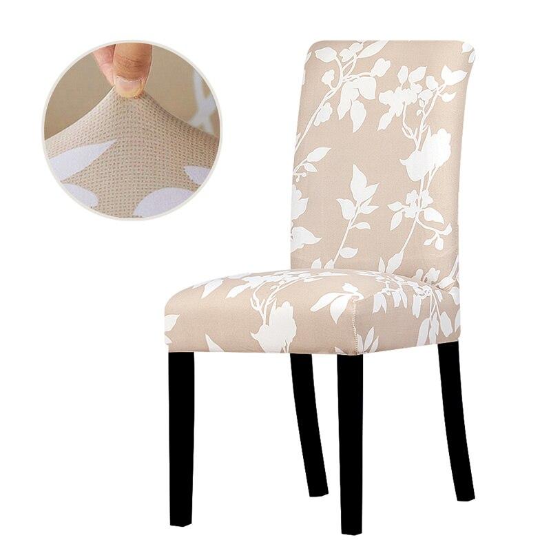 Baskılı elastik Spandex sandalye kılıfı büyük streç evrensel boyutu sandalye kılıfı s çıkarılabilir yıkanabilir yemek koltuğu kapakları ev ziyafet