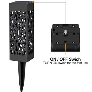 Image 4 - Waterdichte outdoor aestheticism hollow out gazon lamp solar lamp, LED optische sensing de binnenplaats gazon lamp