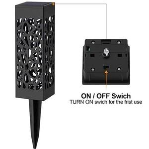 Image 4 - 방수 야외 aestheticism 중공 잔디 램프 태양 램프, led 광학 안뜰 잔디 램프를 감지