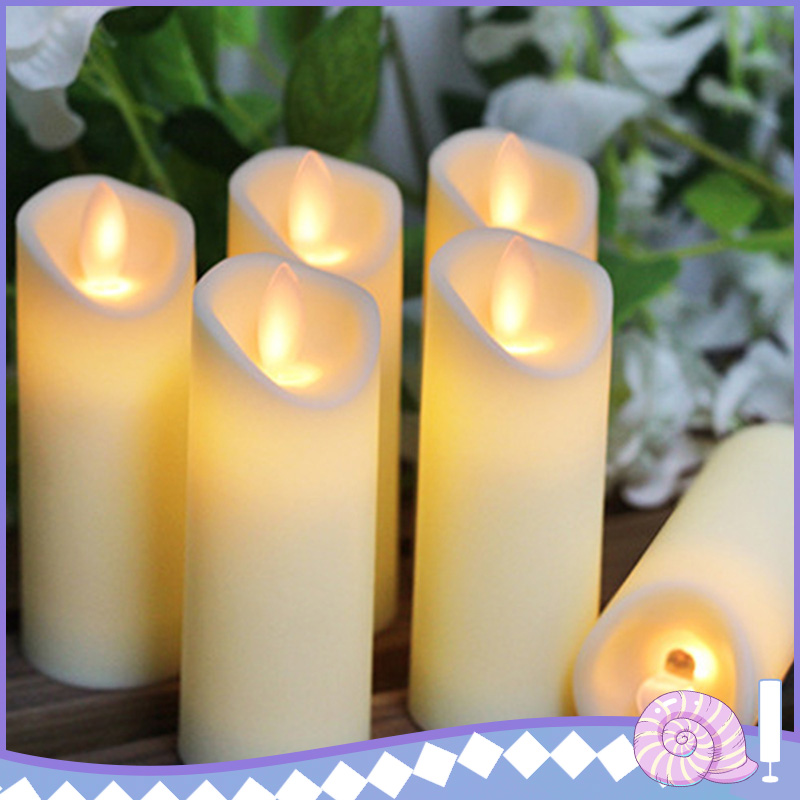 2Pc 27cm Gold Led Glitter Candle Set