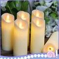 Светодиодный электронный беспламенный Свинг свеча свечи свет на батарейках для вечерние свадьбы День рождения фестиваль романтический уж...