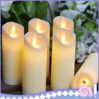 شموع شموع متأرجحة إلكترونية عديمة اللهب LED تعمل بالبطارية لحفلات الزفاف وأعياد الميلاد ديكور عشاء رومانسي|الشموع|   -