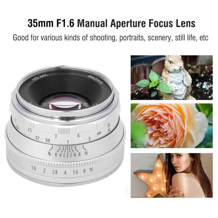 35 مللي متر F1.6 متعدد الطبقات فيلم طلاء مرآة الكاميرا FX جبل عدسة صالح ل Fujifilm XT3 XT100 XT20 مع حقيبة التخزين