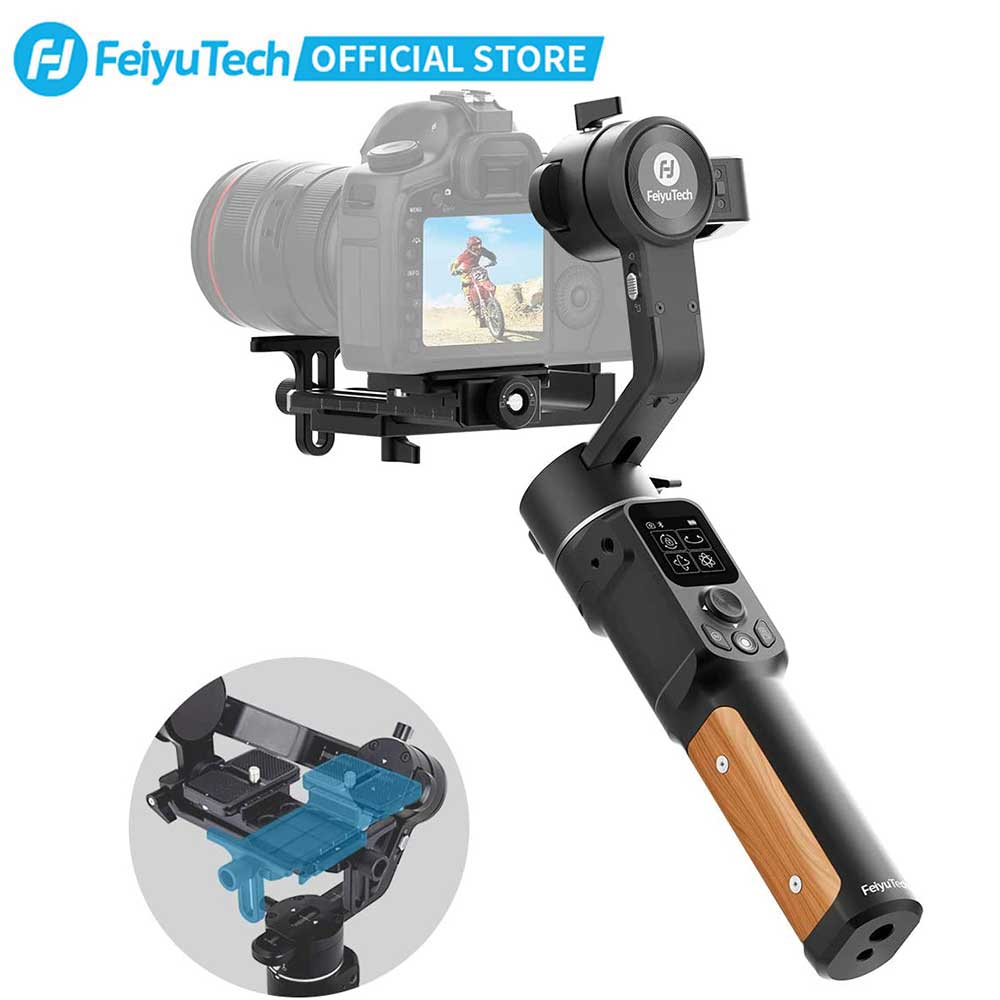 FeiyuTech Official AK2000C Foldable Release Plate DSLR Stabilizer 3 Axis Camera Gimbal for Canon Sony Panasonic Nikon Fujifilm