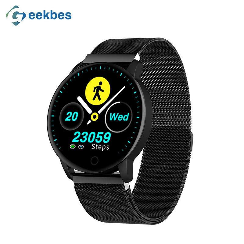 Geekbes WR8 Relógio Das Mulheres Dos Homens Smartwatch 1.22 polegada 2.5D IPS Tela Inteligente da Frequência Cardíaca Monitor de Pressão Arterial Deusa Exclusivo IP67