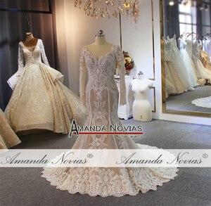 Image 3 - Lace mermaid wedding dress customer order color 2019 bride dress