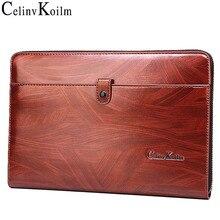 Celinv koilm男性クラッチバッグ大容量の男性ビッグ財布電話passcardポケット高品質多機能bossメンズ