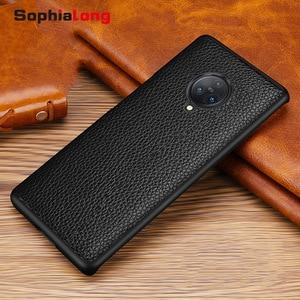 Image 5 - SophiaLong מקרי עבור Vivo Nex 3 Coque אמיתי עור מקרה עבור Vivo Nex 3 NEX3 טלפון כיסוי שיכון עם ליץ דפוס Fundas