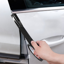 For Hyundai Tucson 2019 2020 Carbon Fiber Scratch-proof Universal Car Accessories Strip Door Edge Protective Paste Film Sticker