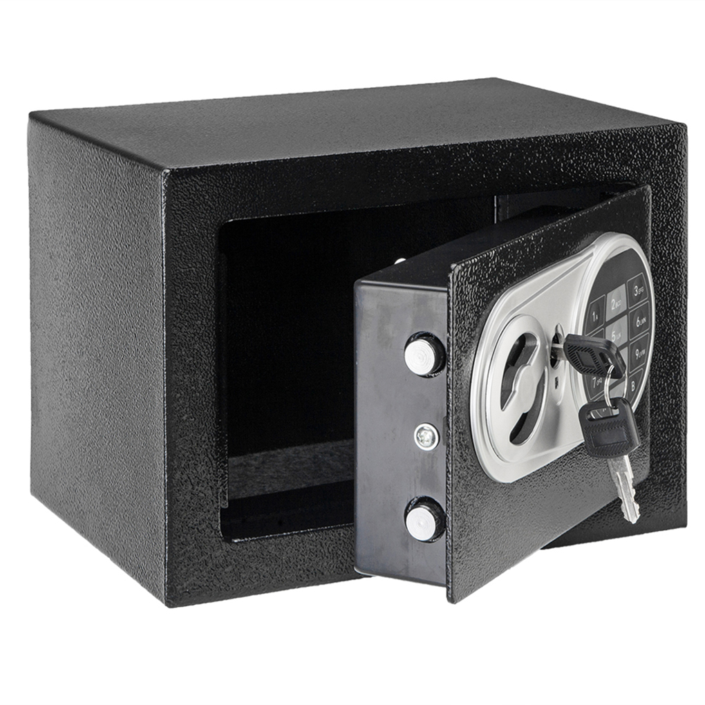 17E Home Use Electronic Password Steel Plate Safe Box Money Jewelry Cash Valuable Security Box