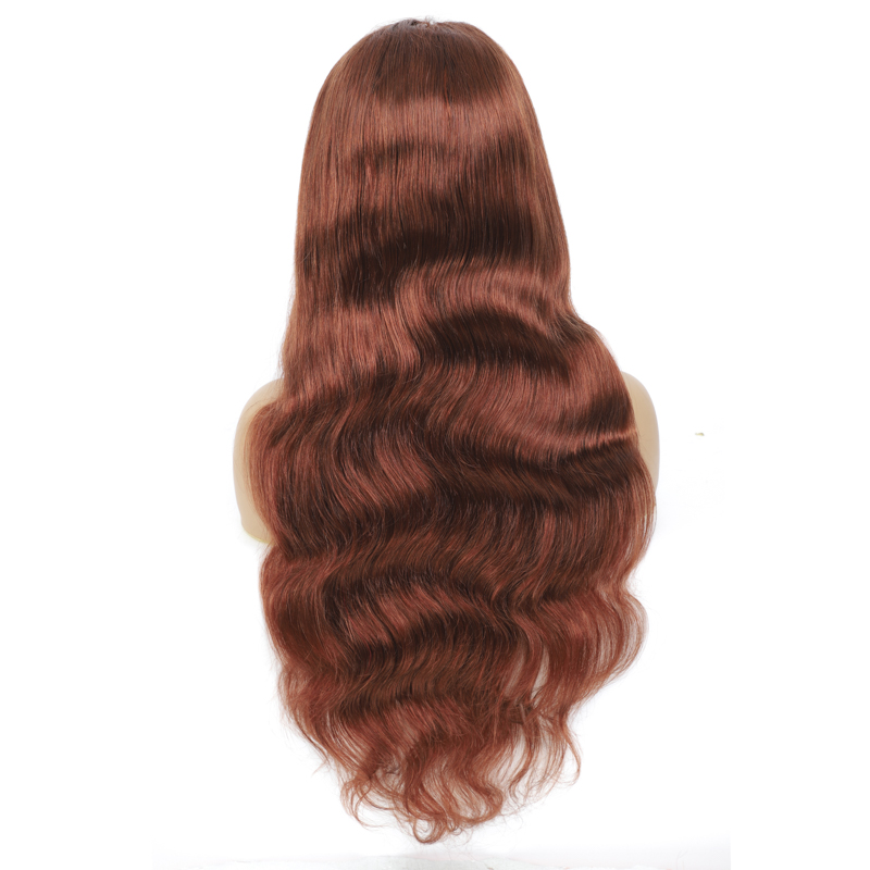 Brown Body Wave Lace Front Human hair Wigs Brazilian Remy Pre Plucked 13x4 Human Hair Lace Wig For Black Women Red Wigs SOKU