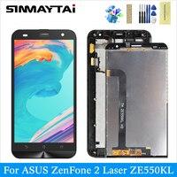 original LCD for ASUS ZenFone 2 Laser ZE550KL Z00LD display digitizer assembly touch screen replacemenet black for ZE550KL Z00LD