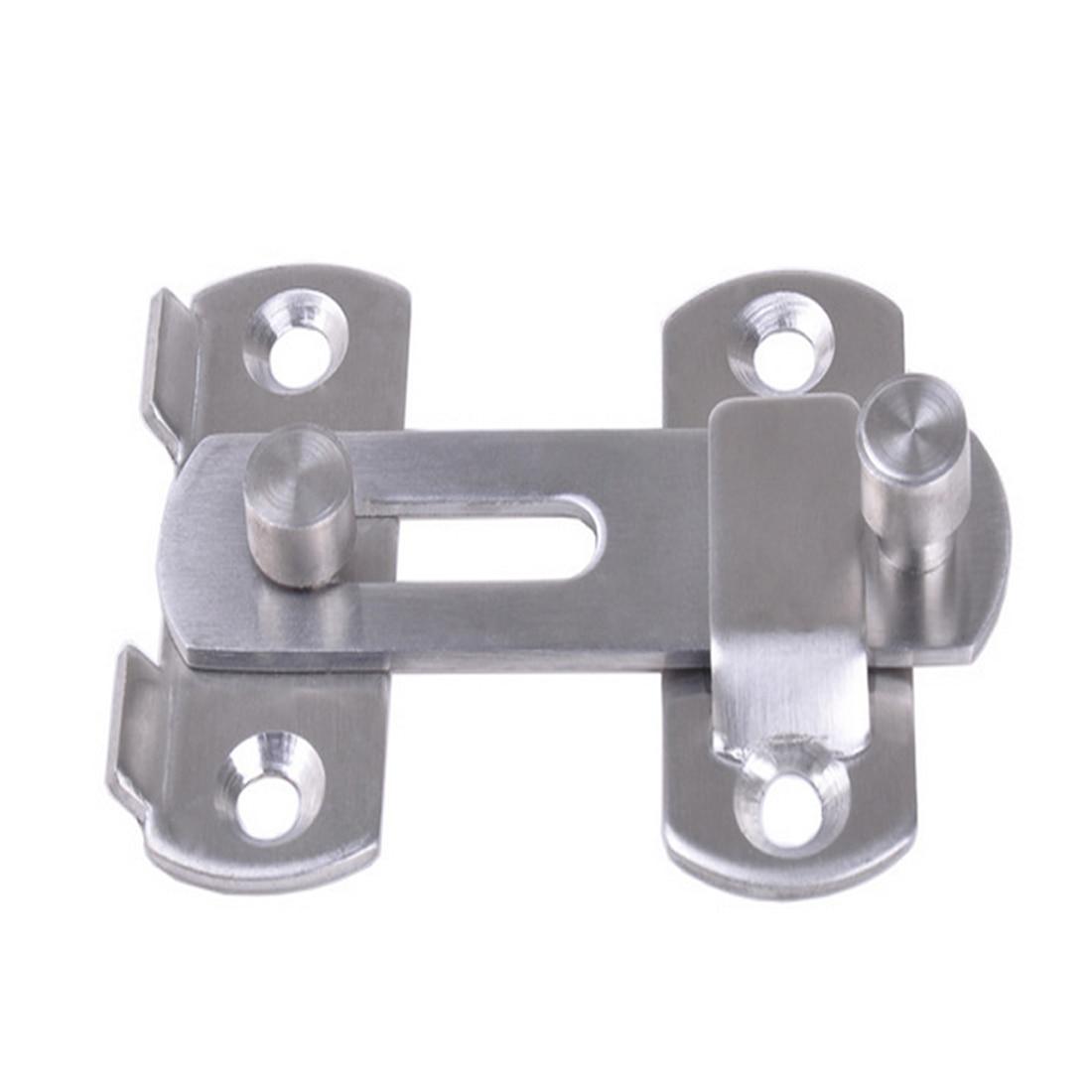2 pc Gold Metal Latch Hasp Staple Cabinet Gate Door Lock Set Safety Hardware