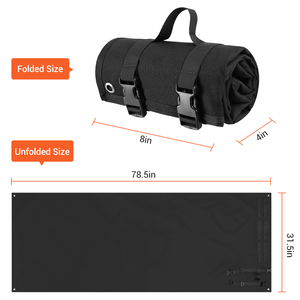 Image 4 - 1000D Tactical Shooting Mat Lightweight Roll Up Camping Mat Non slip Hunting Gun Pad Waterproof Picnic Blanket Hunting Accessory