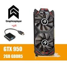 กราฟิกการ์ดPCI E GTX 950 2GB DDR5 128Bit Motherboard GraphiqueวิดีโอสำหรับNvidia