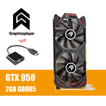 כרטיס מסך PCI E GTX 950 2GB DDR5 128Bit Placa De Graphique וידאו עבור Nvidia