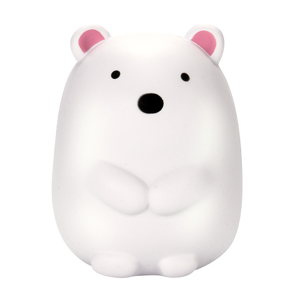 Mini Change Color Squishy Cute Polar Bear Cream Scented Antistress Squeeze Rising Soft  Stress Relief Funny Toy L1216