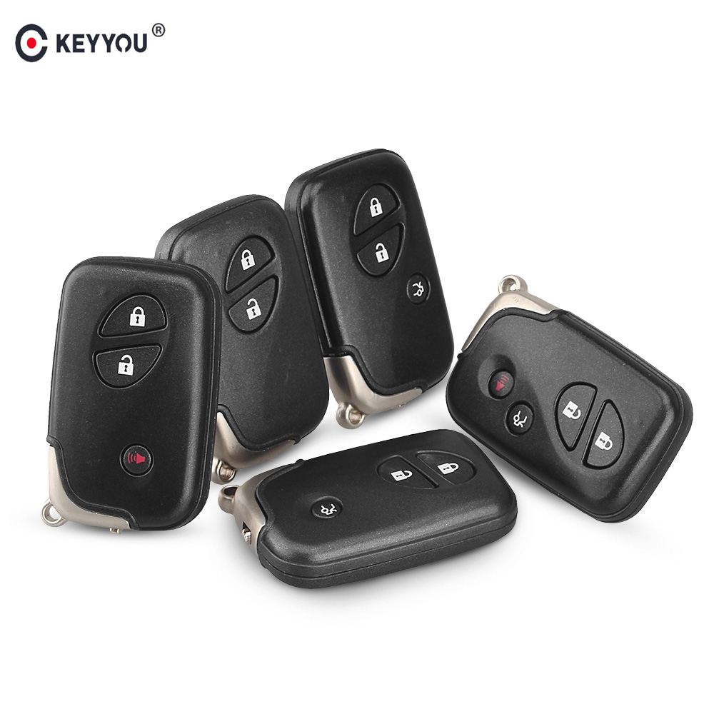 KEYYOU Replacement Keyless Shell 4 Buttons Smart Remote <font><b>Key</b></font> Fob Case For <font><b>Lexus</b></font> GS430 ES350 GS350 LX570 IS350 <font><b>RX350</b></font> IS250 image