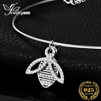 JPalace Bee Silver Bracelet Charm Bracelet Bangles 925 Sterling Silver Gemstones Bracelets For Women Silver 925 Jewelry Making