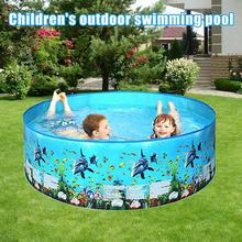 NEW Summer Baby Inflatable Swimming Pool 3 Ring Circles Pool Infant Shower Round Swimming Bathtub Swim For Kids J8C0