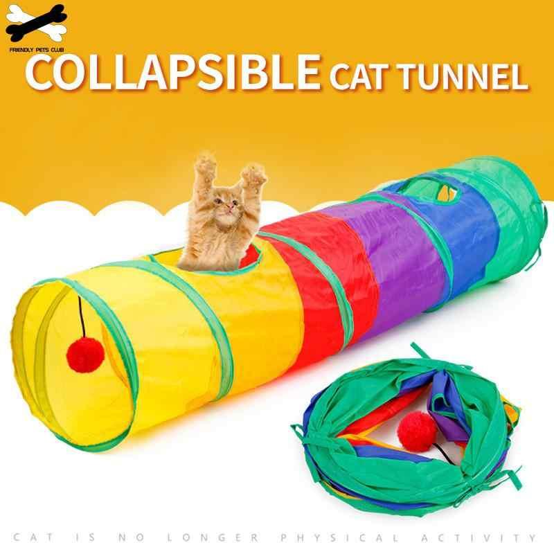 재미 있은 고양이 장난감 무지개 터널 2 구멍 키티 동굴 토끼 튜브 대량 장난감 두뇌 게임 애완 동물 제품