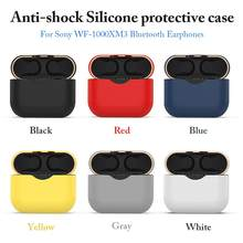 High Quality Silicone Protective Case Wireless Headset Anti-Drop Cover Shell Anti-Shock Earphone Storage Box For Sony WF-1000XM3(China)