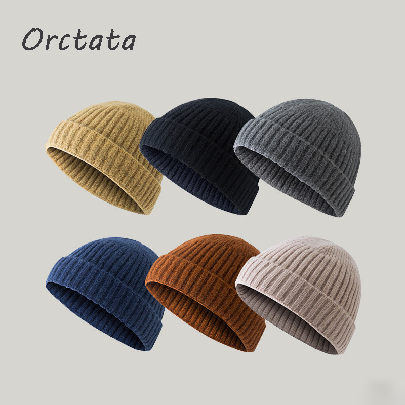Vintage Winter Knit Beanies Hats for Women Men Fashion Unisex Solid Color Acrylic Warm Knitted Men Skullies Cap Hat