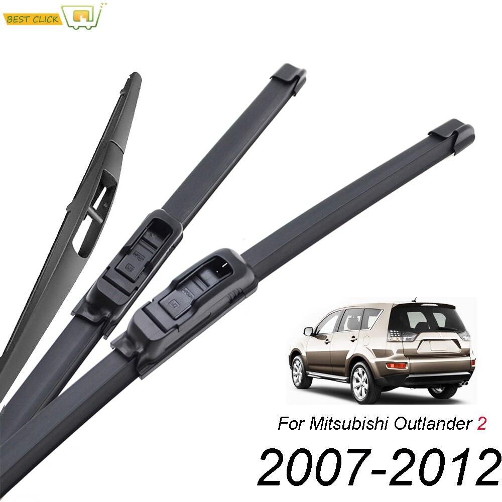 """Mitsubishi Outlander 2007-2012 Ventana Limpiaparabrisas 24/"""" 21/"""" 12/"""" delantero y trasero"""