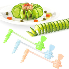 Creative Fruit Vegetable Spiral Slicer Kitchen Cutting Vegetable Pattern Carved Flowers Gadget Potato Carving Kitchen Gadget Set