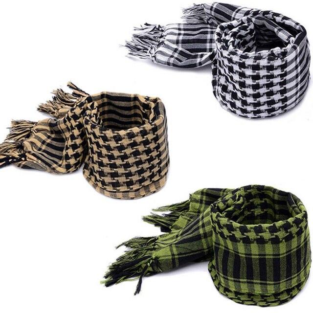Fashion Mens Lightweight Square Outdoor Shawl Military Arab Tactical Desert Army Shemagh KeffIyeh Arafat Scarf Fashion 4
