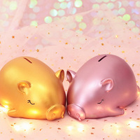 2019 Lucky Big Pig Piggy Bank Meng Pig Child Birthday Gift Creative Gift Falling Bad Money Box Fashion Household Products