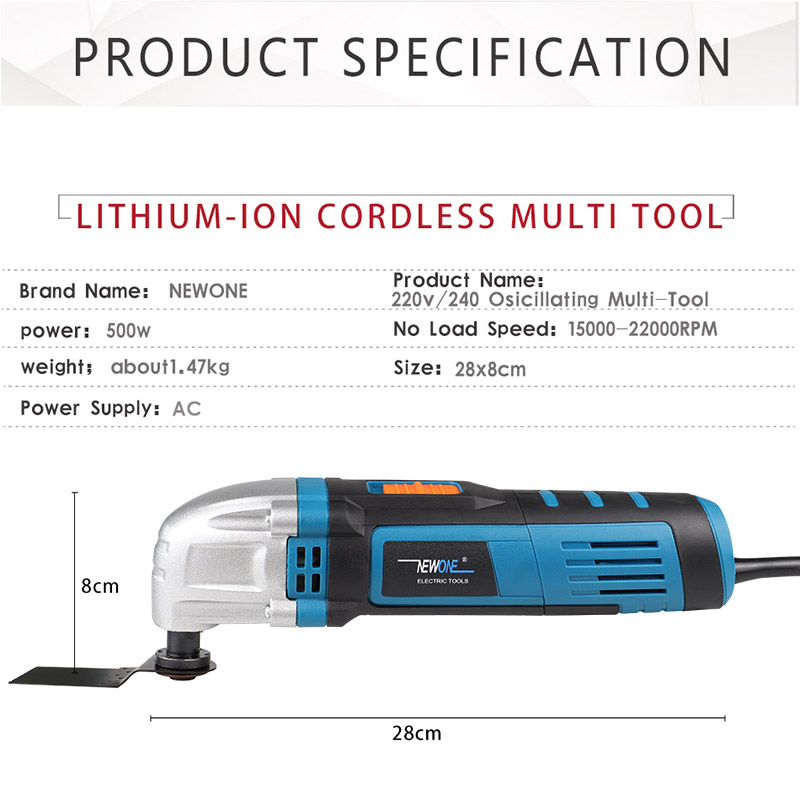 Multi NEWONE With Electric Cutter Saw Handle Renovator Trimmer Power Function Purpose 500W Oscillating Tool Tool Multi Blades
