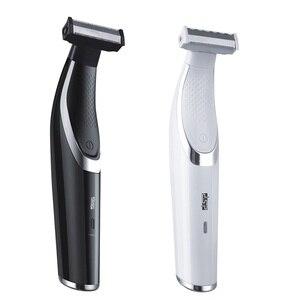 Image 4 - Twarz ciało włosy trymer broda akumulator profesjonalna brzytwa golarka elektryczna USB depilator ścinanie włosów maszyna mężczyzna pielęgnacja