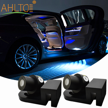 2pcs Car Angel Wings Atmosphere LED Welcome Carpet Lamp Multi-Colorful White Blue Red Door Light of Dream Fit All Cars