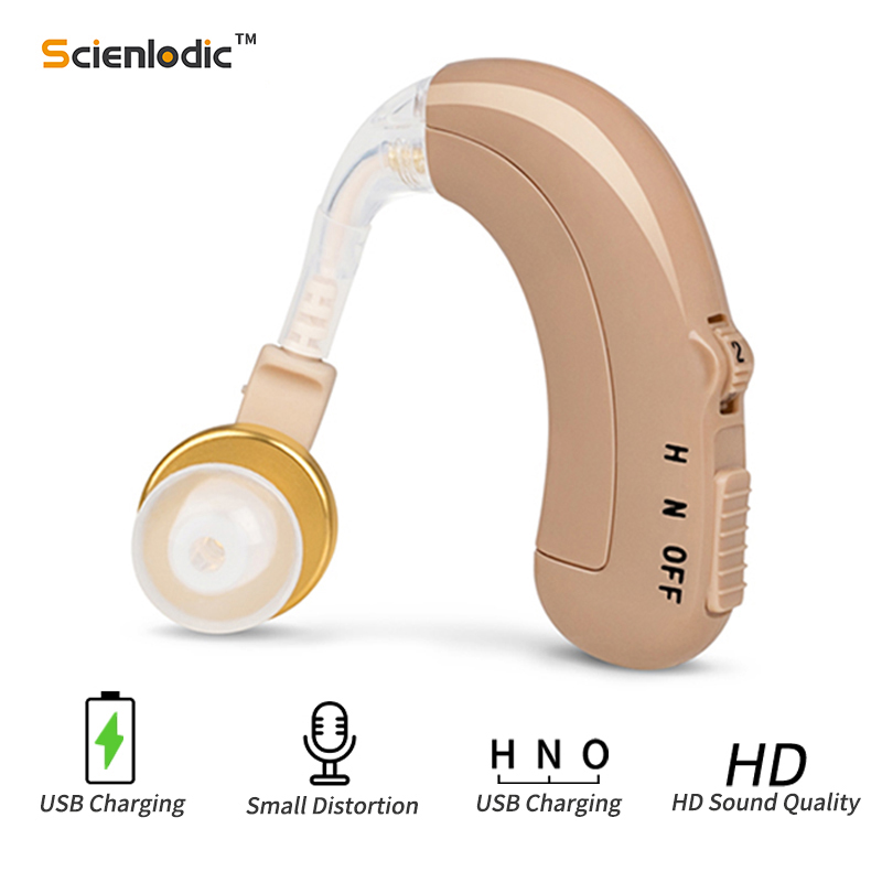 USB Rechargeable Hearing Aids Mini Ear Hearing Amplifier Adjustable Tone Hearing Aid Sound Amplifier Hearing Device For Elderly