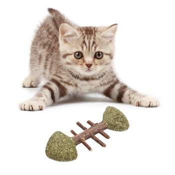 Pure Natural Catnip Pet Cat Toy Cat Mint Snack Molar Toothpaste Branch Cleaning Teeth, Removal Hair Ball, Improve The Appetite image