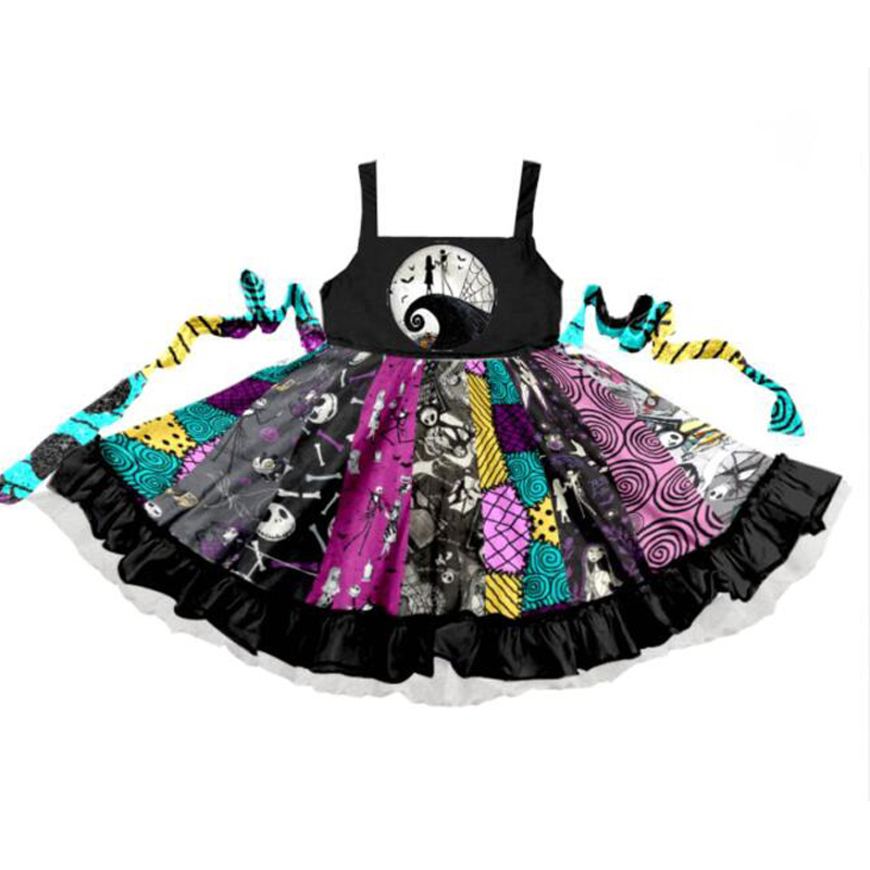 2019 Summer New Baby Girls Dress Fashion Princess Castle Twirl Dresses Childrens Clothes Kids Clothing Boutique 1