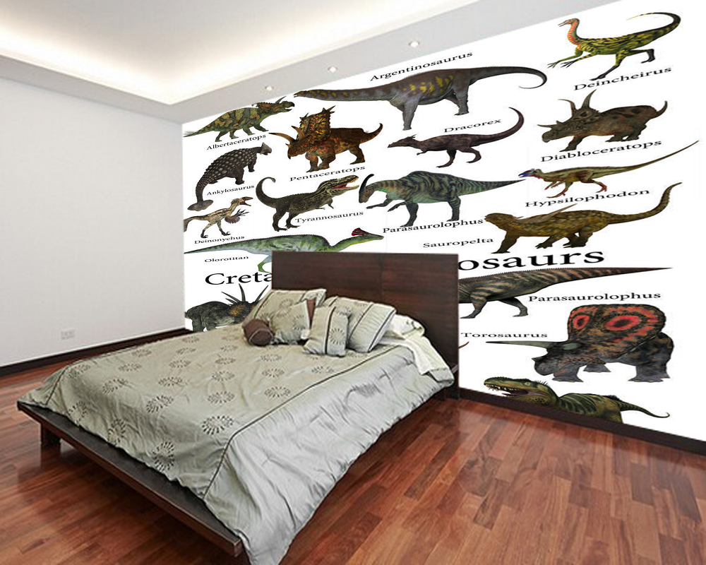 Children's Wallpaper,Cretaceous Dinosaurs Photo Murals For Kids Rooms Study Living Room Background PVC