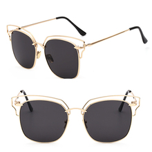 цена на 2019 New CatEye Sunglasses Women Brand Designer Fashion Twin Beam Sunglasses Double-Deck Alloy Frame UV400 Ins hot SAN0
