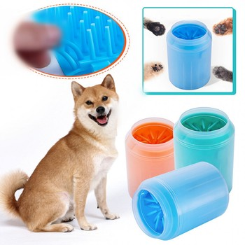 2019 New Dog Paw Cleaner Cup Soft Silicone Combs Pet Foot Washer Cup Paw Clean Brush Quickly Wash Dirty Cat Foot Cleaning Bucket